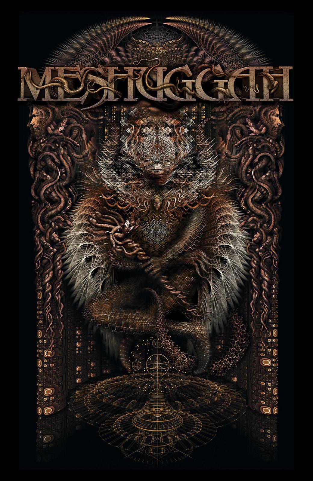 Meshuggah Gateman Fabric Poster Flag Fabric Poster Metal Posters Band Wallpapers