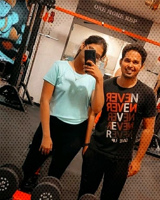 Post workout selfie by @kapil_daima @rutikadubey_06