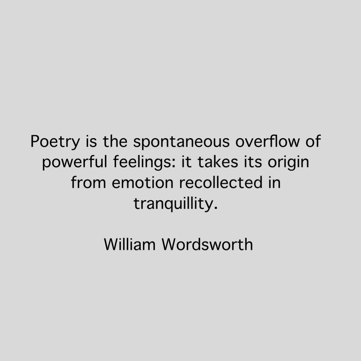 william wordsworth style of writing poems