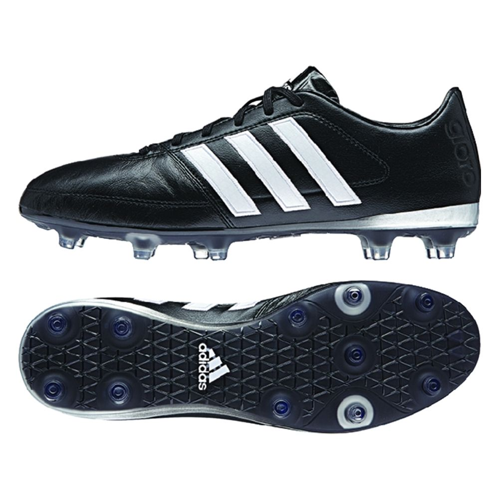 The black Adidas Gloro 16.1 soccer cleats scream class. With the simple  design and the