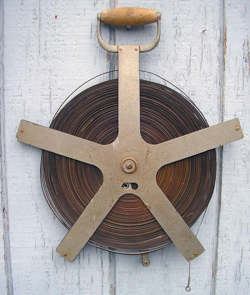 Antique Lufkin Steel Surveyors Tape Measure