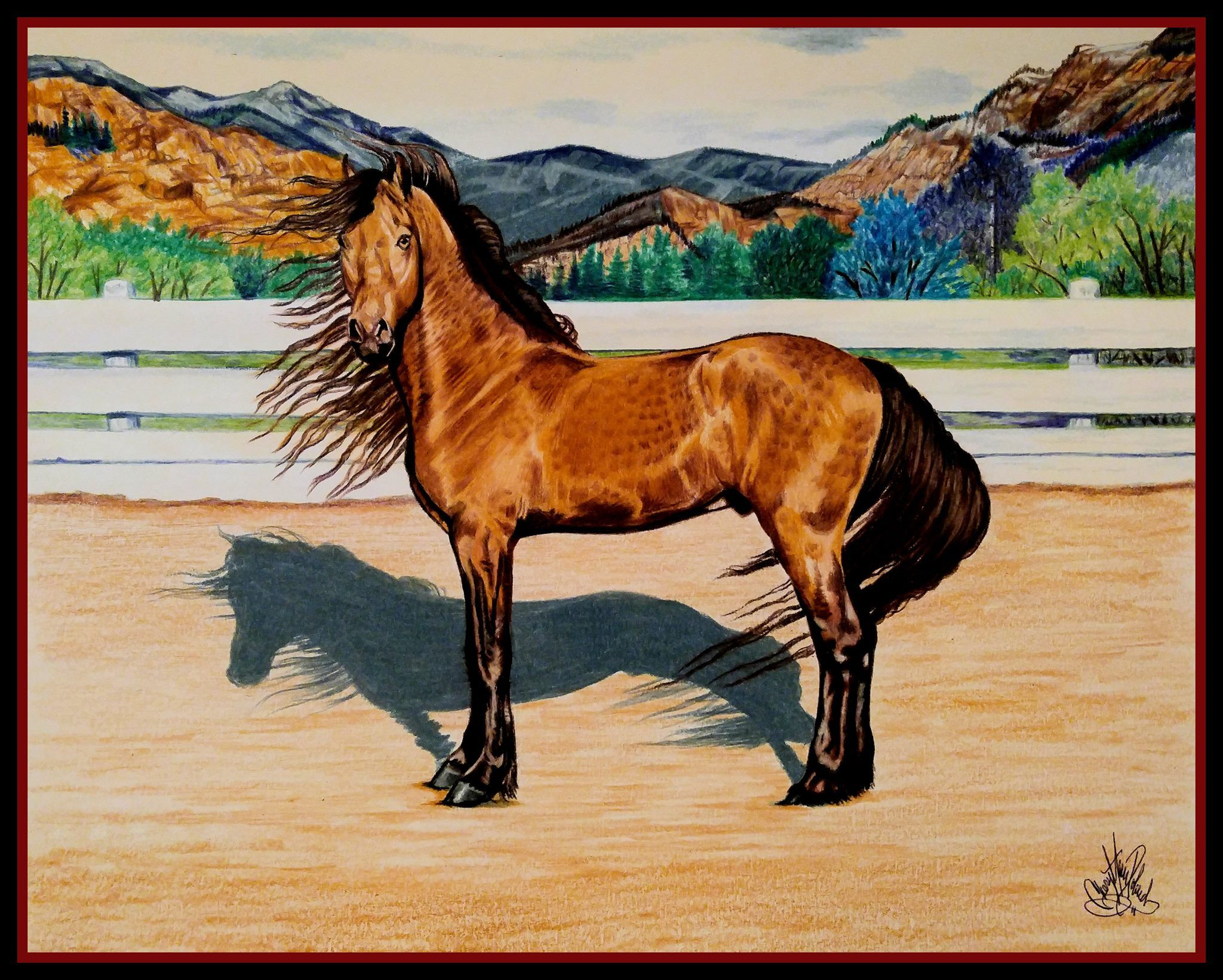 Fabulous Artistry From Equine Rhythms Cheryl Poland Buckskin Lusitano In The Mountains Of Spain Watch Videos And L Equestrian Art Oil Pastel Colours Horses