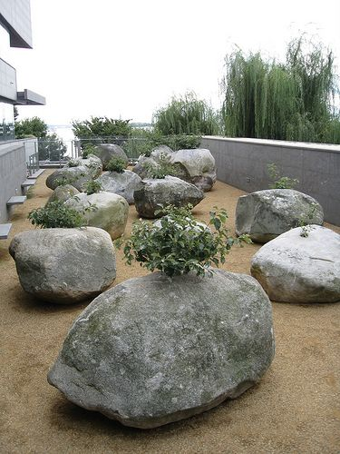 GARDEN OF STONES By ANDY GOLDSWORTHY, THE MUSEUM OF JEWISH HERITAGE, NY, USA