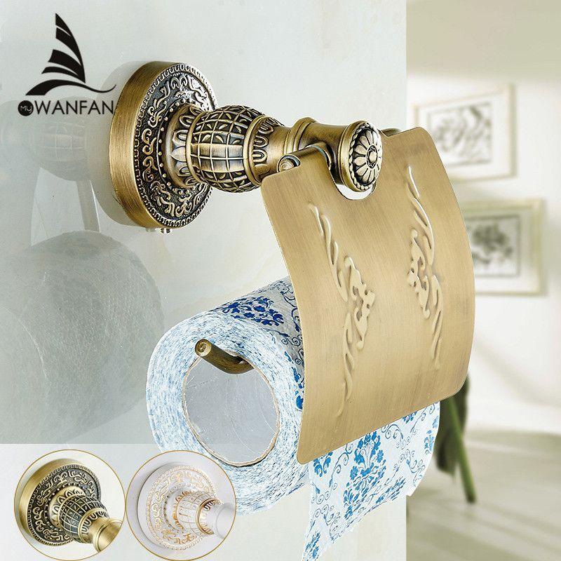 Antique Brass Paper Towel Rack Europe Style Bathroom Paper Holder European Toilet Paper Box Toile Toilet Paper Holder Toilet Accessories Bathroom Tissue Holder