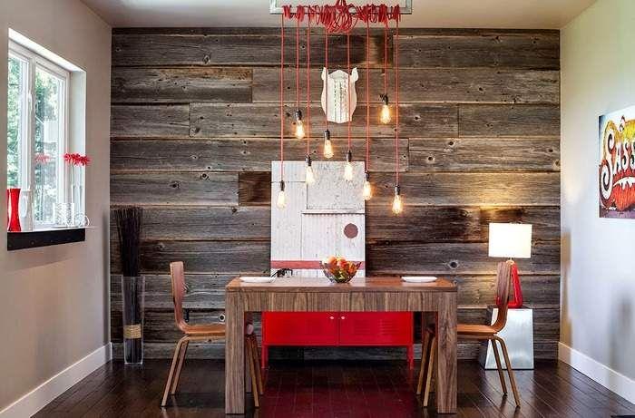 Оригинальный декор стен деревом своими руками на фото в ...