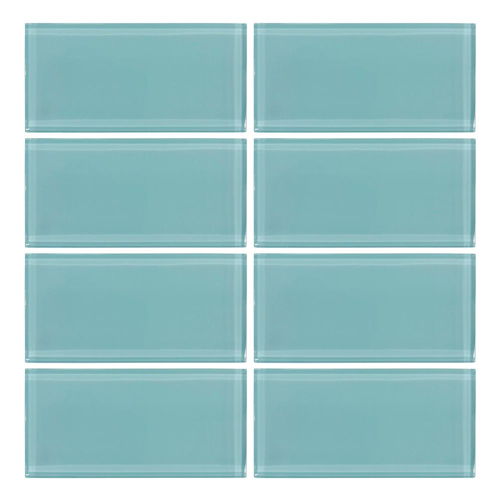 Jeffrey Court Tiffany May 3 In X 6 Gl Wall Tile 8 Piece Pack 99321 The Home Depot