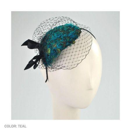 Scala Peacock Fascinator Headband  84d1e4a188b