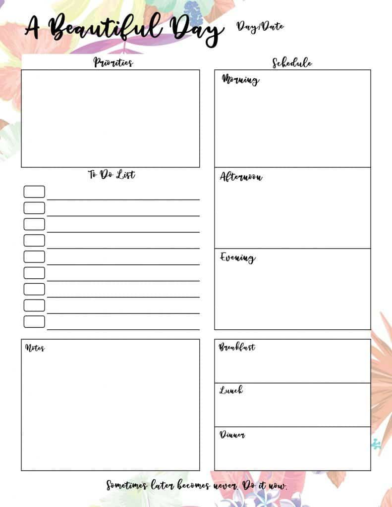 Printable calendar 2021 with daily planners and to-do ...