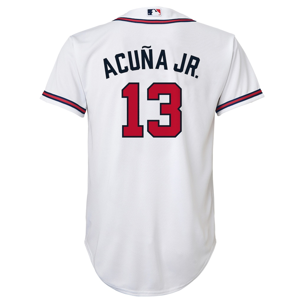 Boys 8 20 Atlanta Braves Acuna Replica Home Jersey Atlanta Braves Boys Atlanta