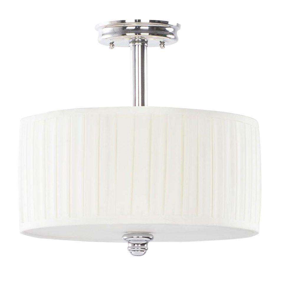hampton bay nadia collection 3-light chrome semi-flush