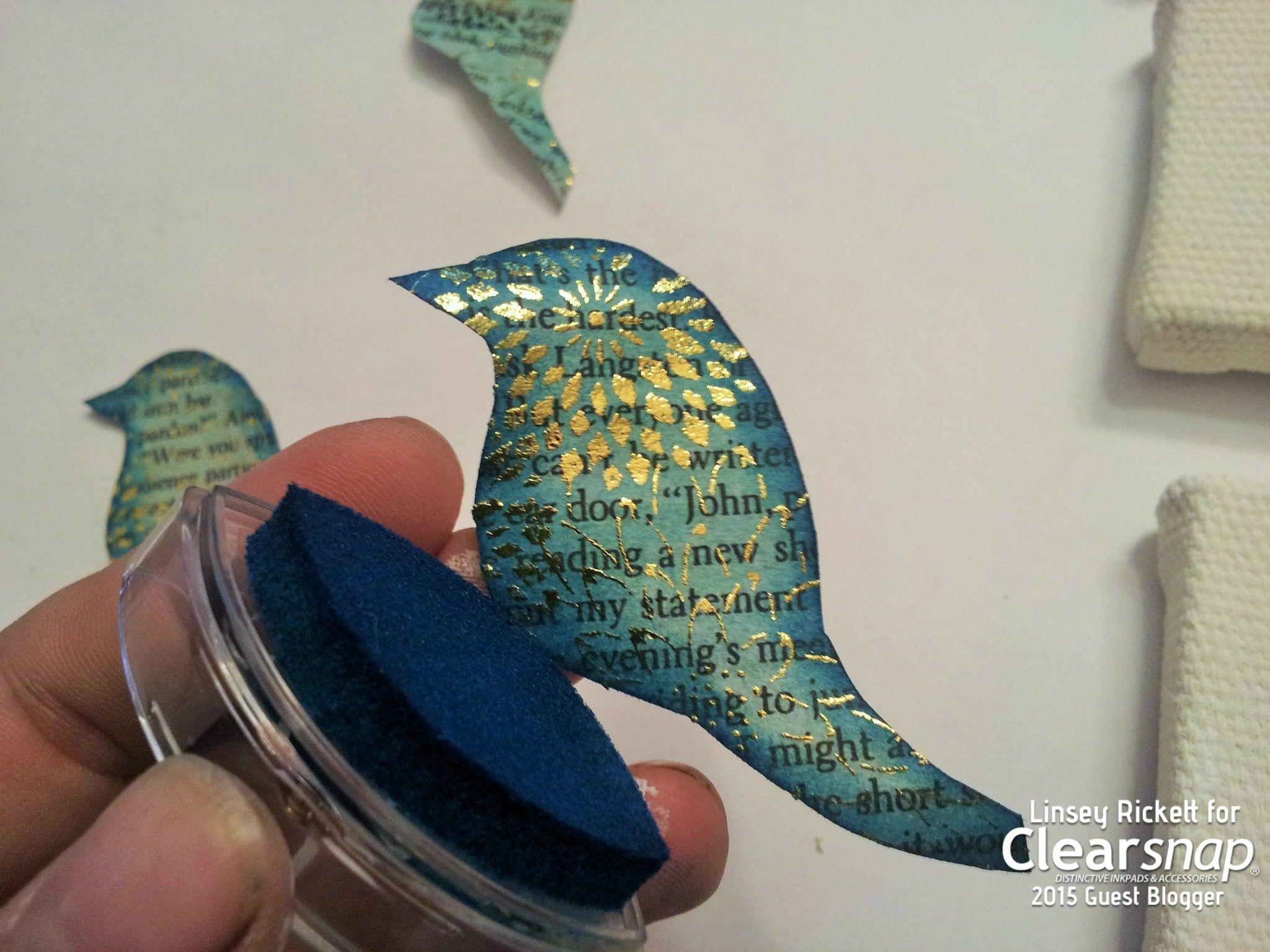 spongetealcateyecolorboxinkaroundpaperbird