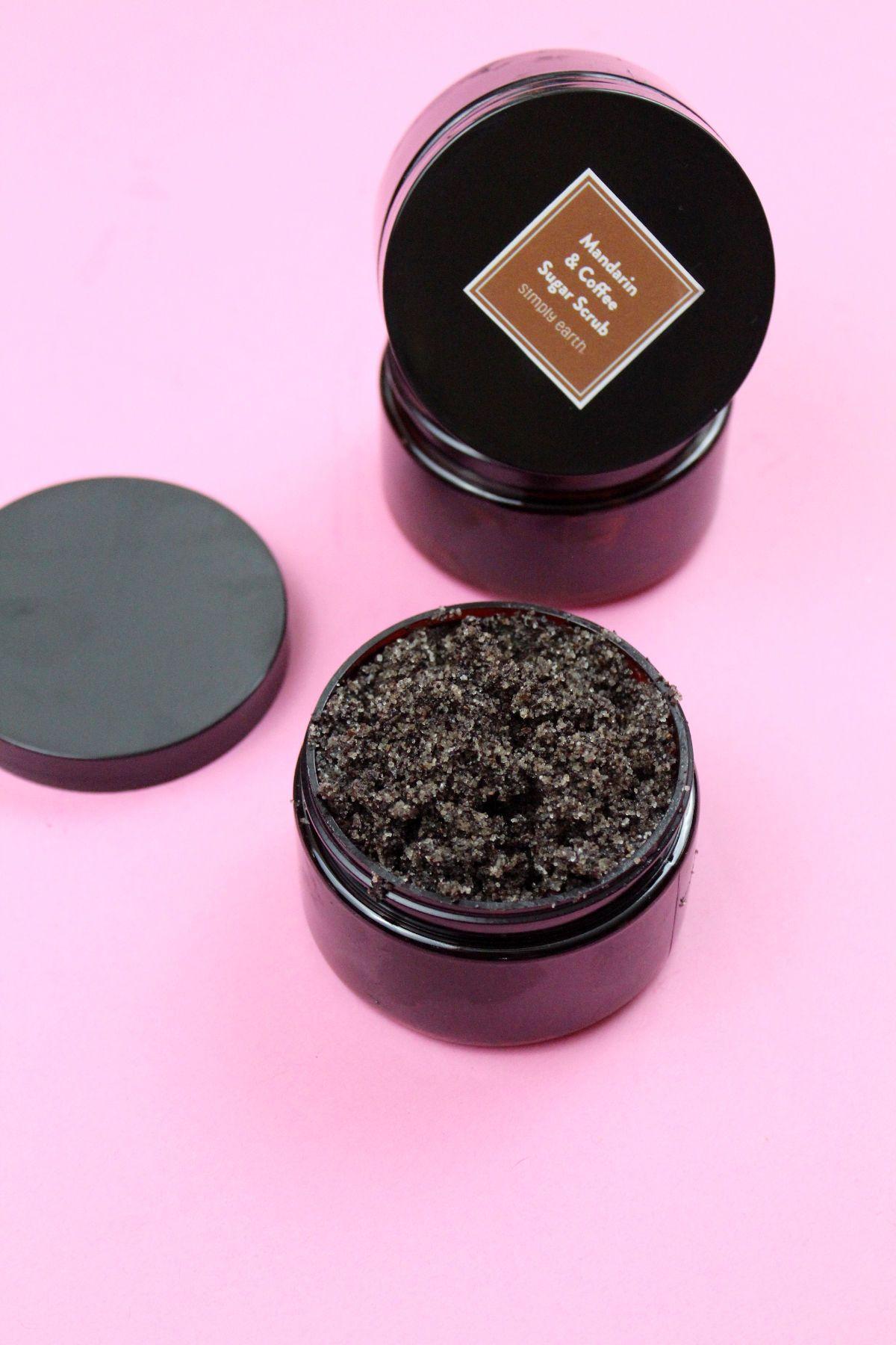 DIY Coffee Body Scrub with Mandarin Essential Oil for