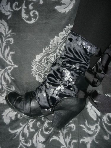 Victorian Steampunk Spats Boot Covers Oriental Geisha Gothic Cosplay Lolita | eBay