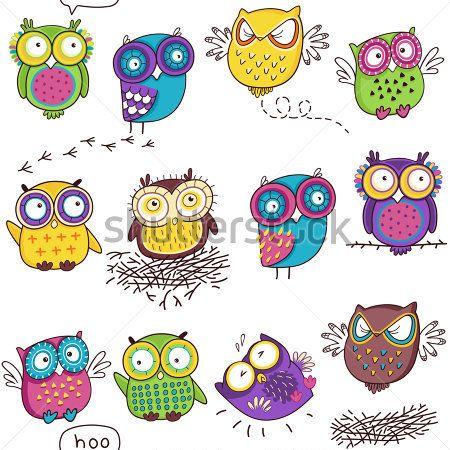 Chouette dessin color recherche google owls owl - Dessins de chouette ...