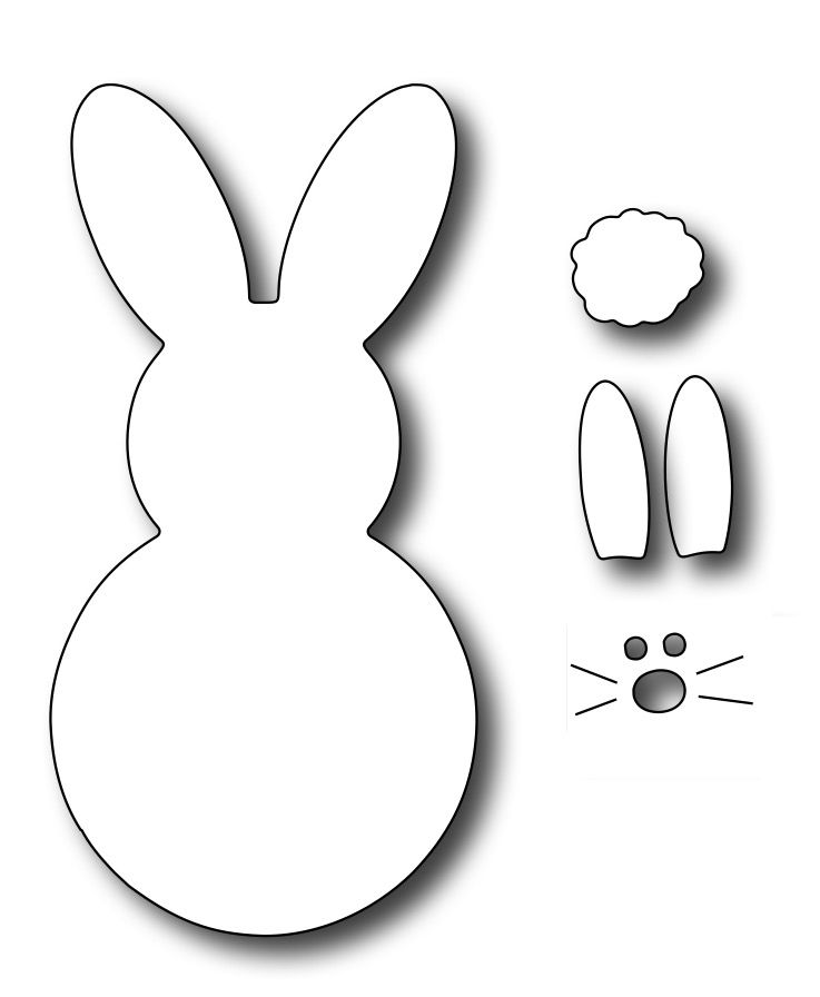 picture about Printable Marshmallow Template named Busy Stamper Accuracy Die - Superior Marshmallow Bunny