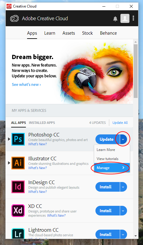 Creative cloud previous versions