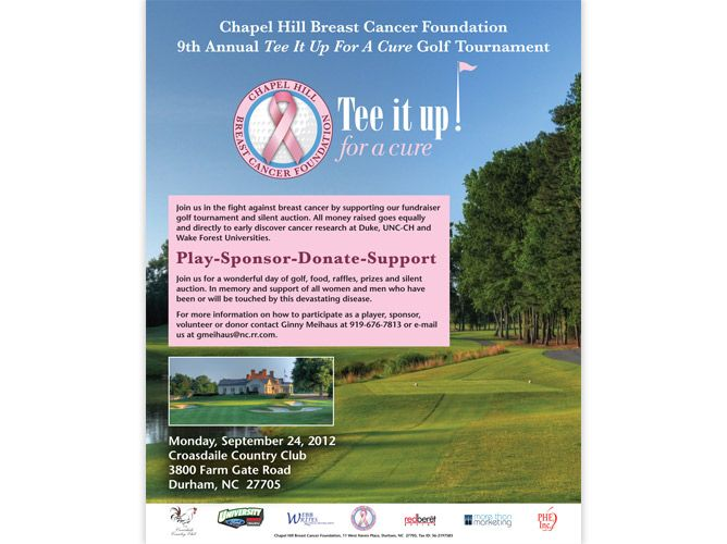 breast cancer golf tournament ideas Chapel Hill Breast Cancer - golf tournament brochure