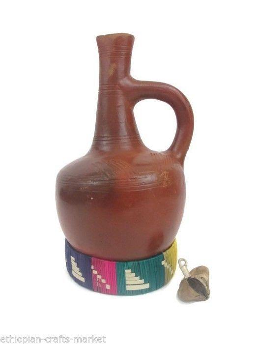 Traditional Ethiopian Eritrean Clay Coffee Pot Jebena Jabana 8 5
