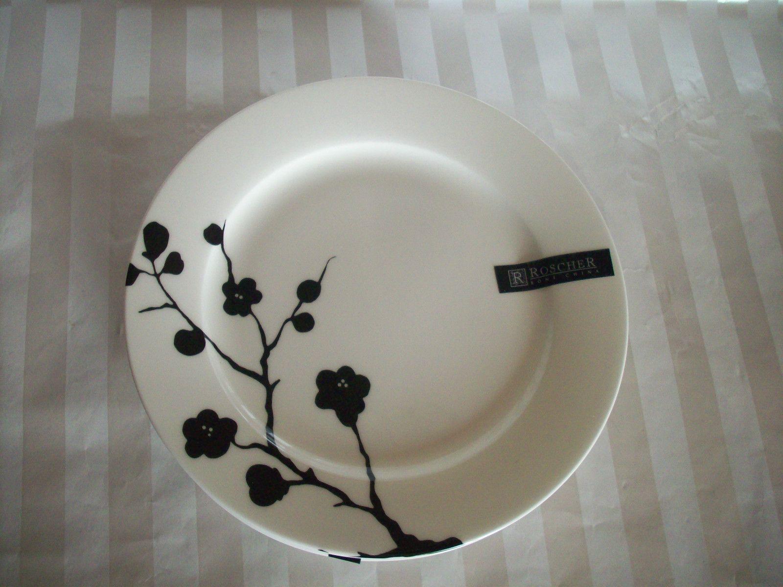 ROSCHER Black Design Porcelain Fine Bone China.Love this!   Classy ...