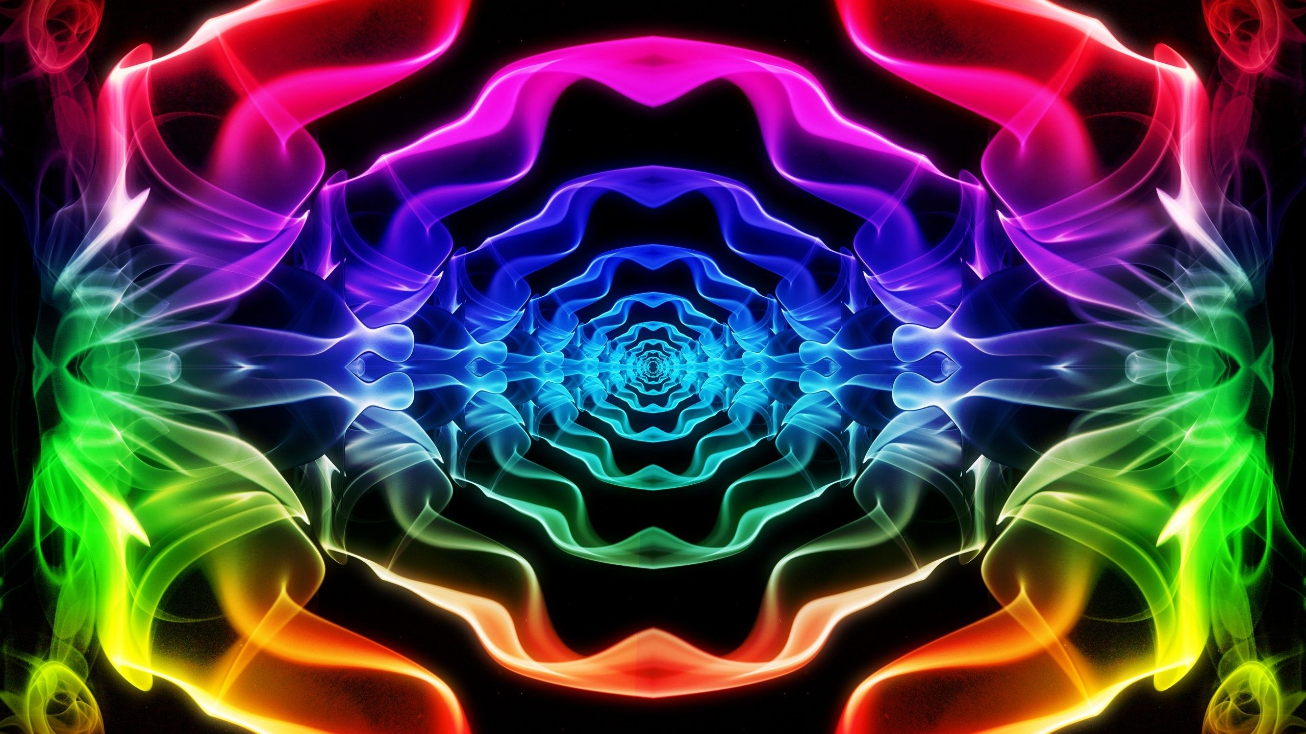 Abstract smoke psychedelic color spectrum wallpaper