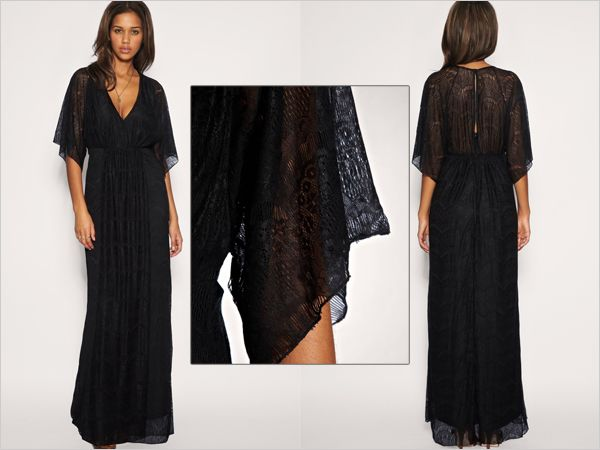 ASOS dress. Lace maxi dress, featuring a kaftan style design with ...