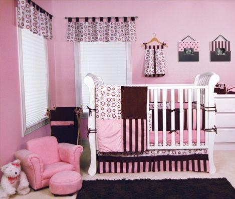 Habitacion bebe rosa negro habitaciones de bebes - Habitaciones nina bebe ...
