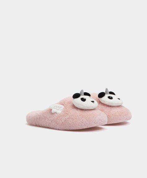 Ladies Flat Slippers Shoes Womens Nightwear
