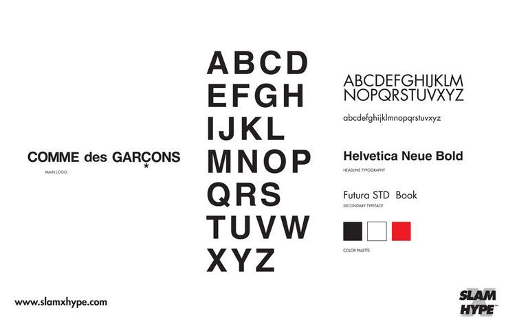 Comme des garcons font   Typography touch me!   Brand fonts