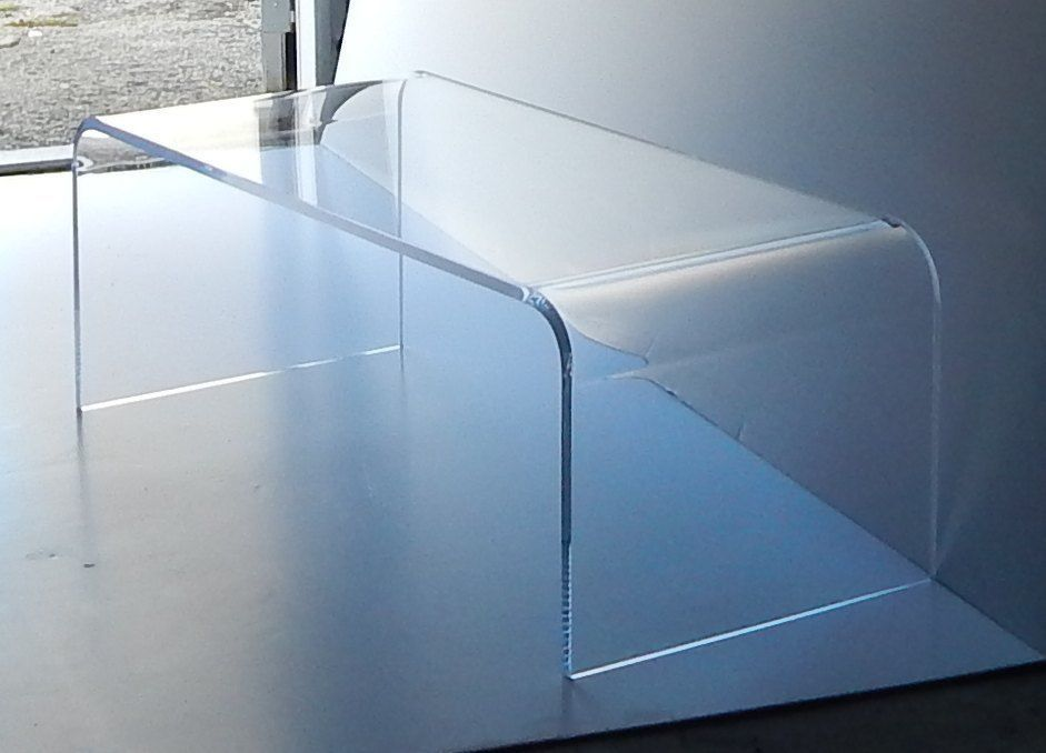 Taller Acrylic Coffee Cocktail Table Lucite 40 X 20 X 18 High,