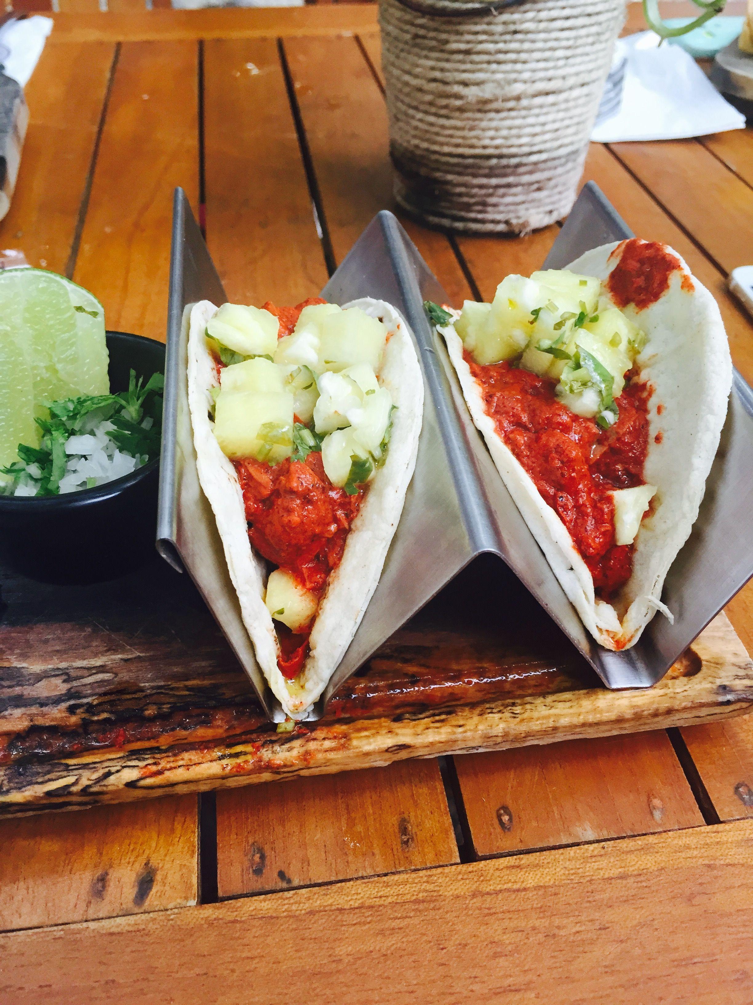 Tacos de marlin al pastor increíbles!!!