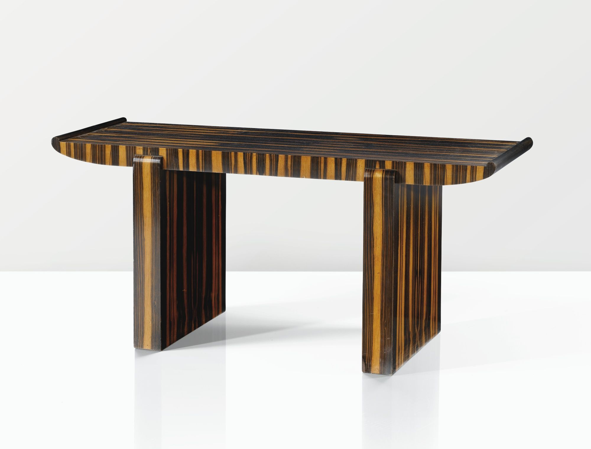 Dominique Andre Domin Marcel Genevriere 1883 1962 1885 1967 Table Basse Vers 1930 1935 A Zebrano Veneer Pagoda Occ Mobilier Art Deco Table Basse Table