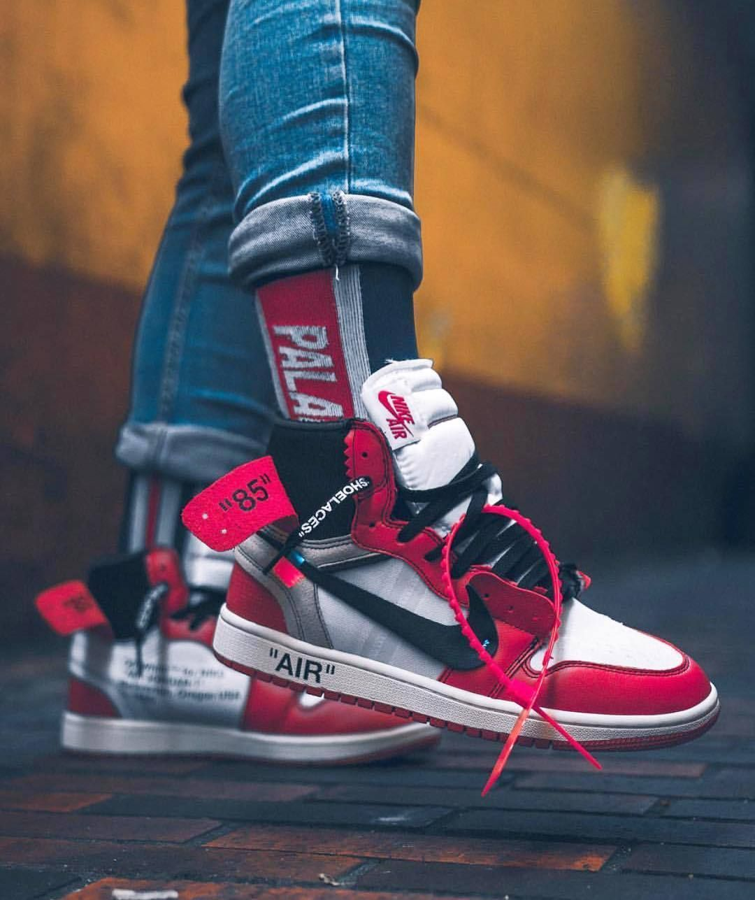 Palace X Off White Aj1 With Images Sneakers Men Fashion Hype