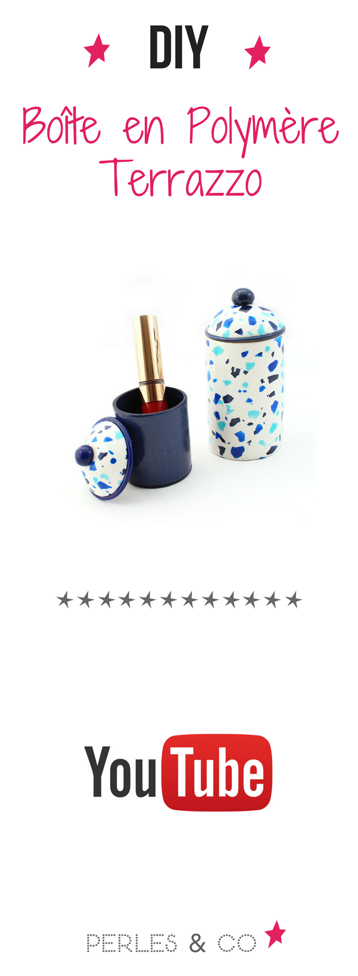 diy bo te en polym re terrazzo les tutoriels perles co pinterest p tes polym res pate. Black Bedroom Furniture Sets. Home Design Ideas
