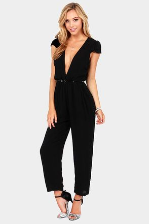 Black Dressy Jumpsuits Photo Album - Reikian