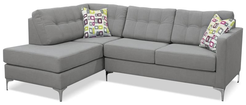 Ivy Fabric Left Facing Sectional With Sofa Bed Grey Grey Sofa Bed Lounge Seating Sofa Bed
