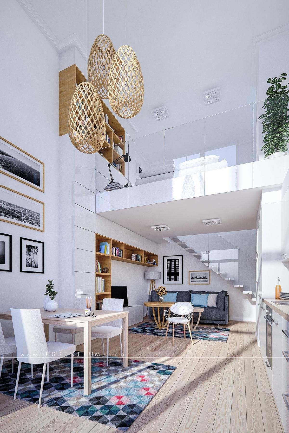 Home designing  via small homes that use lofts to gain more floor also rh ar pinterest