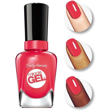 Sally Hansen Miracle Gel Nail Color, Redgy, 0.5 fl oz, Red