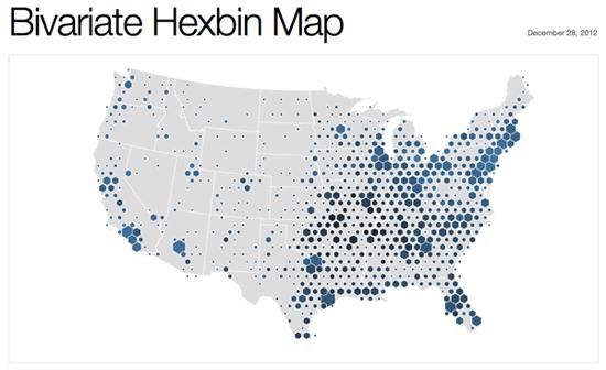Hexagonal Binning Map Showing The Locations Of Walmart - Walmart us map