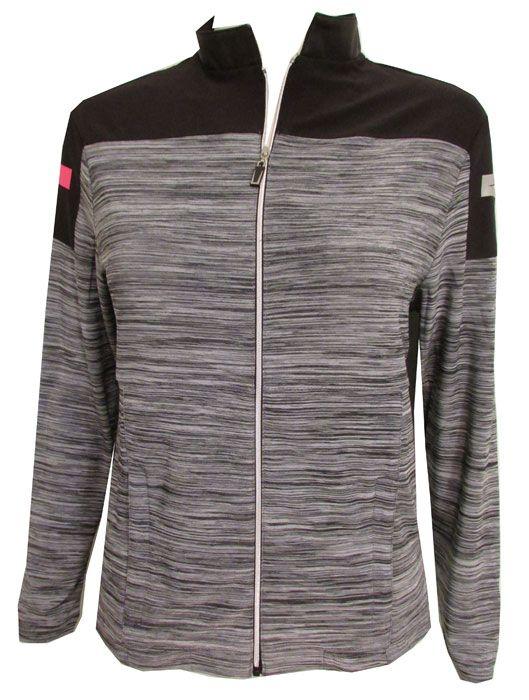 Jamie Sadock Ladies & Plus Size Long Sleeve Golf Shirts - Enchantress (Black & Grey) | via @lorisgolfshoppe