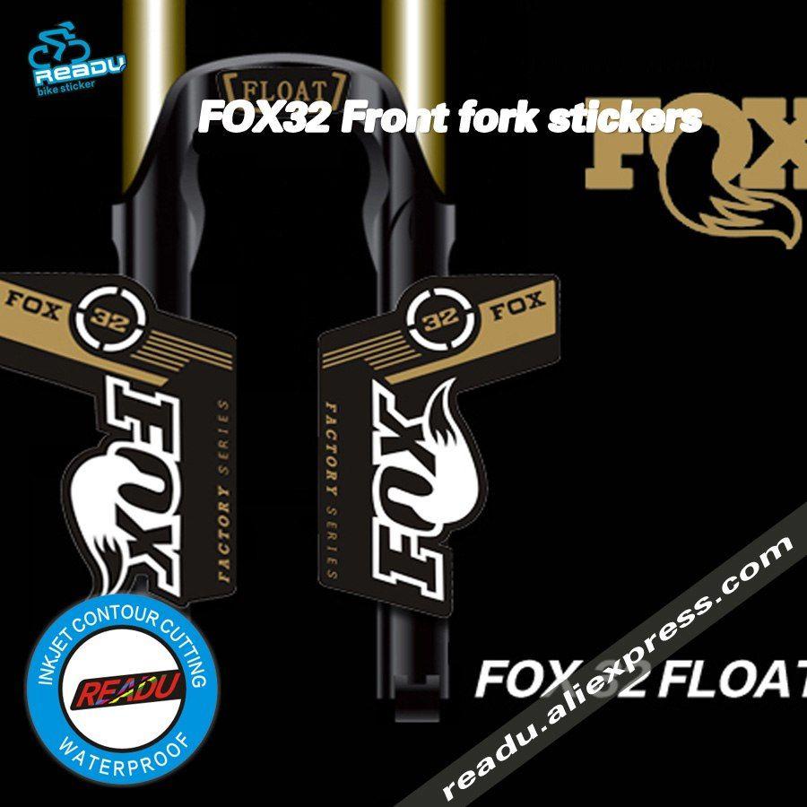 Bike Fork Sticker FOX FACTORY 32 Front Forks Decorative