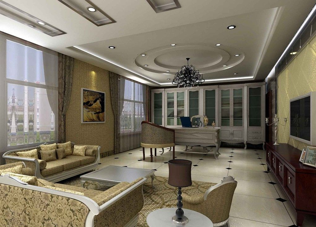 Various creative and cool ceiling decor for living room - Interior design ceiling living room ...