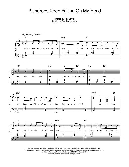 Raindrops Keep Falling On My Head by Burt Bacharach Beginner