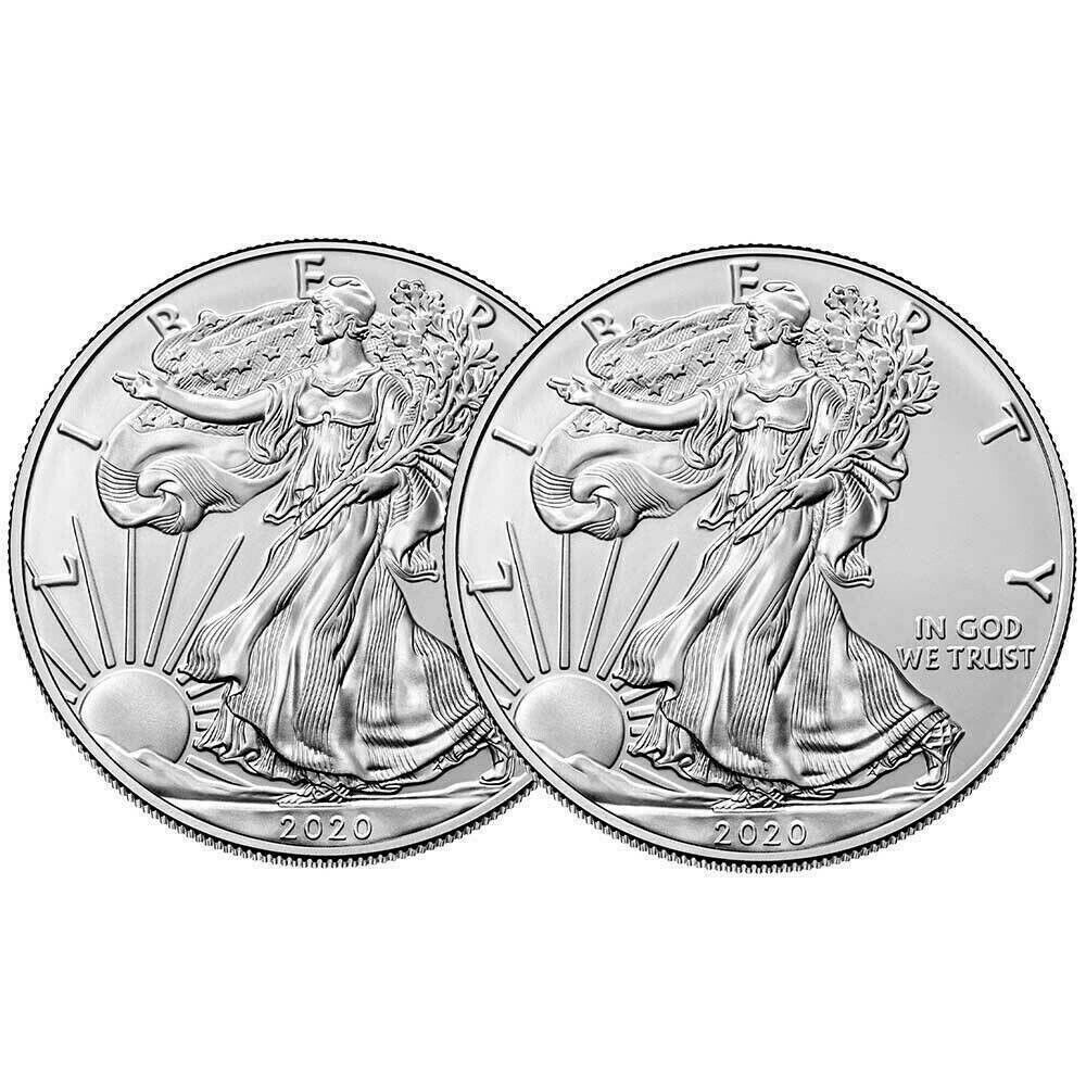 1 Oz 2020 Silver Eagle Bullion Coin Bu In Protective Capsule Free Silver Bonus In 2020 Bullion Coins Silver Eagles Bullion