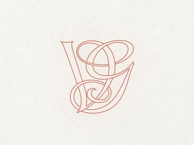 Vg Monogram Initial Tattoo Monogram Tattoo Lettering