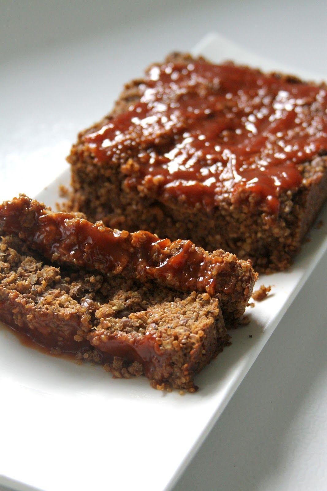 """lentil & quinoa """"meat""""loaf"""