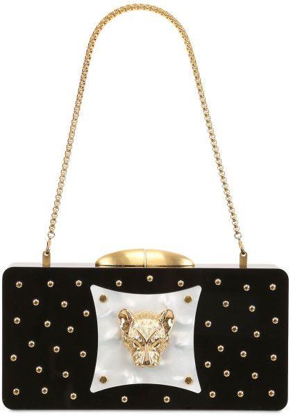 9ffcf6c43a Thale Blanc Limited Edition Bianca Perspex Clutch in Gold (BLACK) Luxury  Shop, Bag