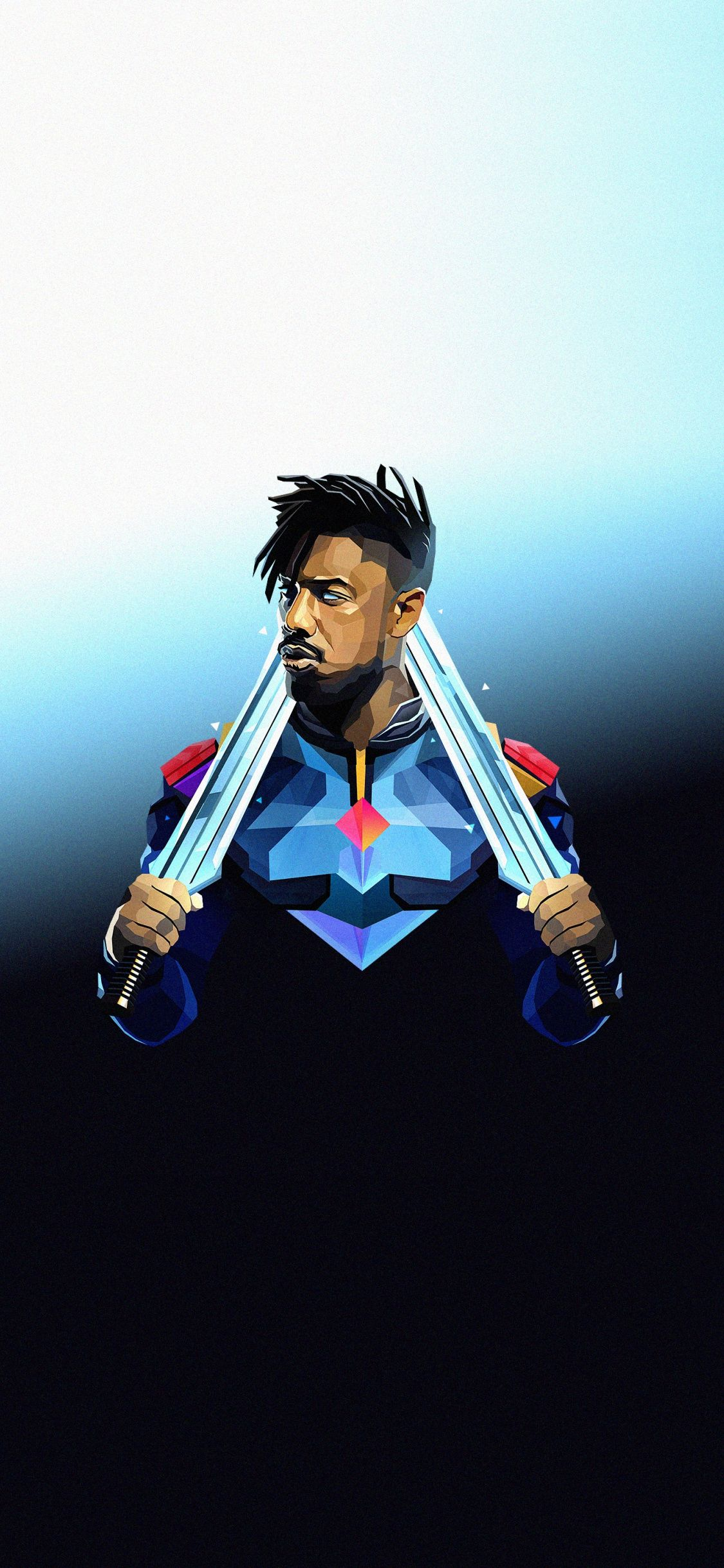 Michael B Jordan Villain Erik Killmonger Movie Art Wallpaper Black Panther Marvel Black Panther Marvel Artwork