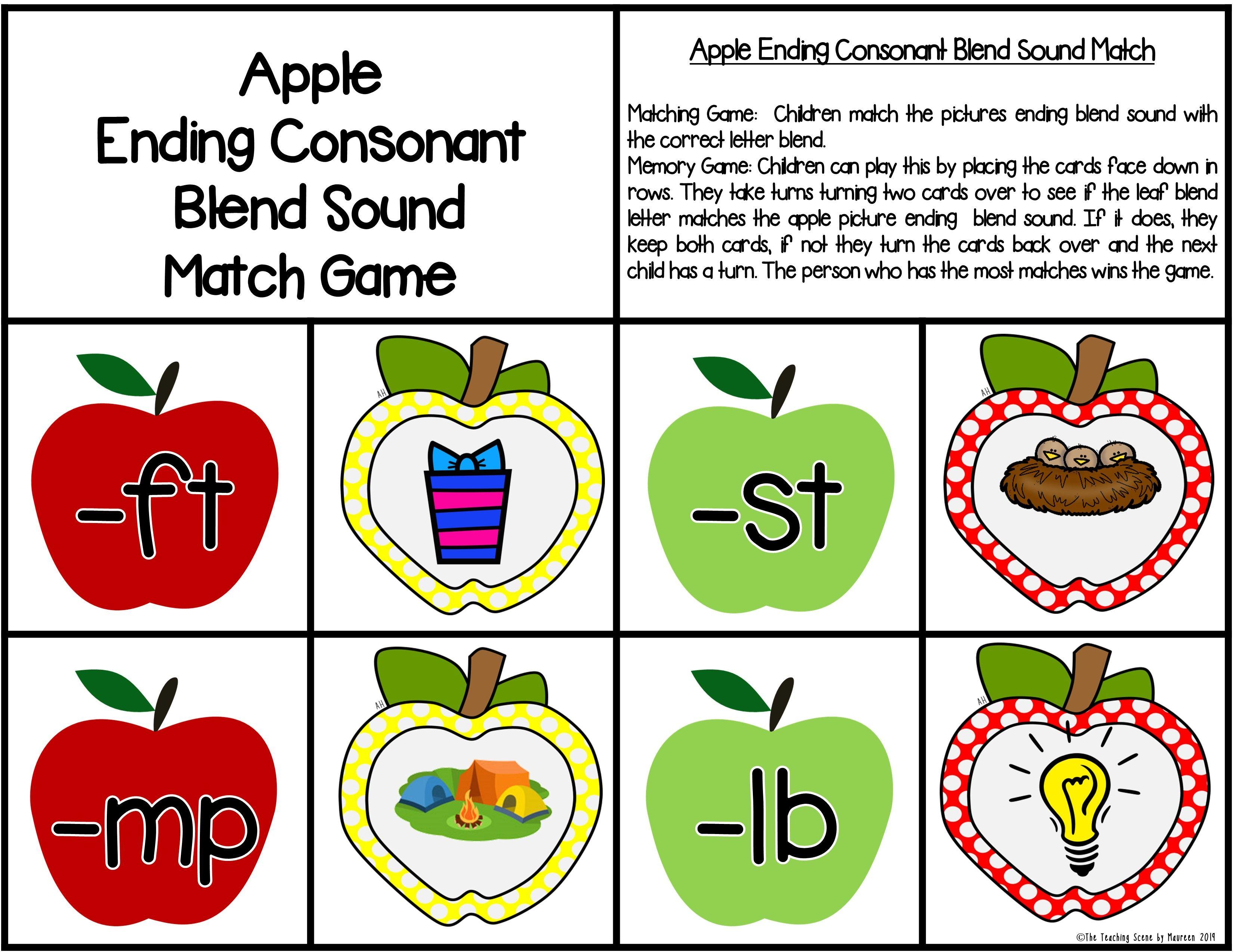 Ending Consonant Blends Centers Amp Worksheets