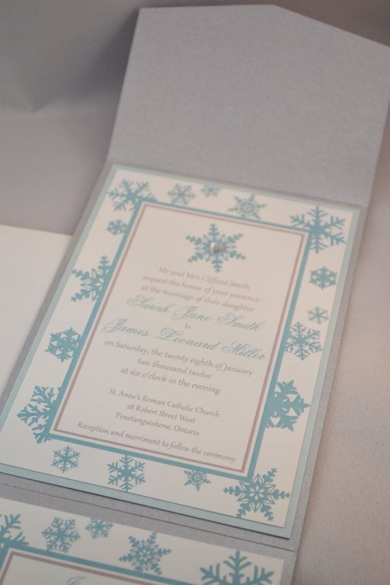 Printable PDF Winter Wedding Invitations for by WeddingsNThingss ...