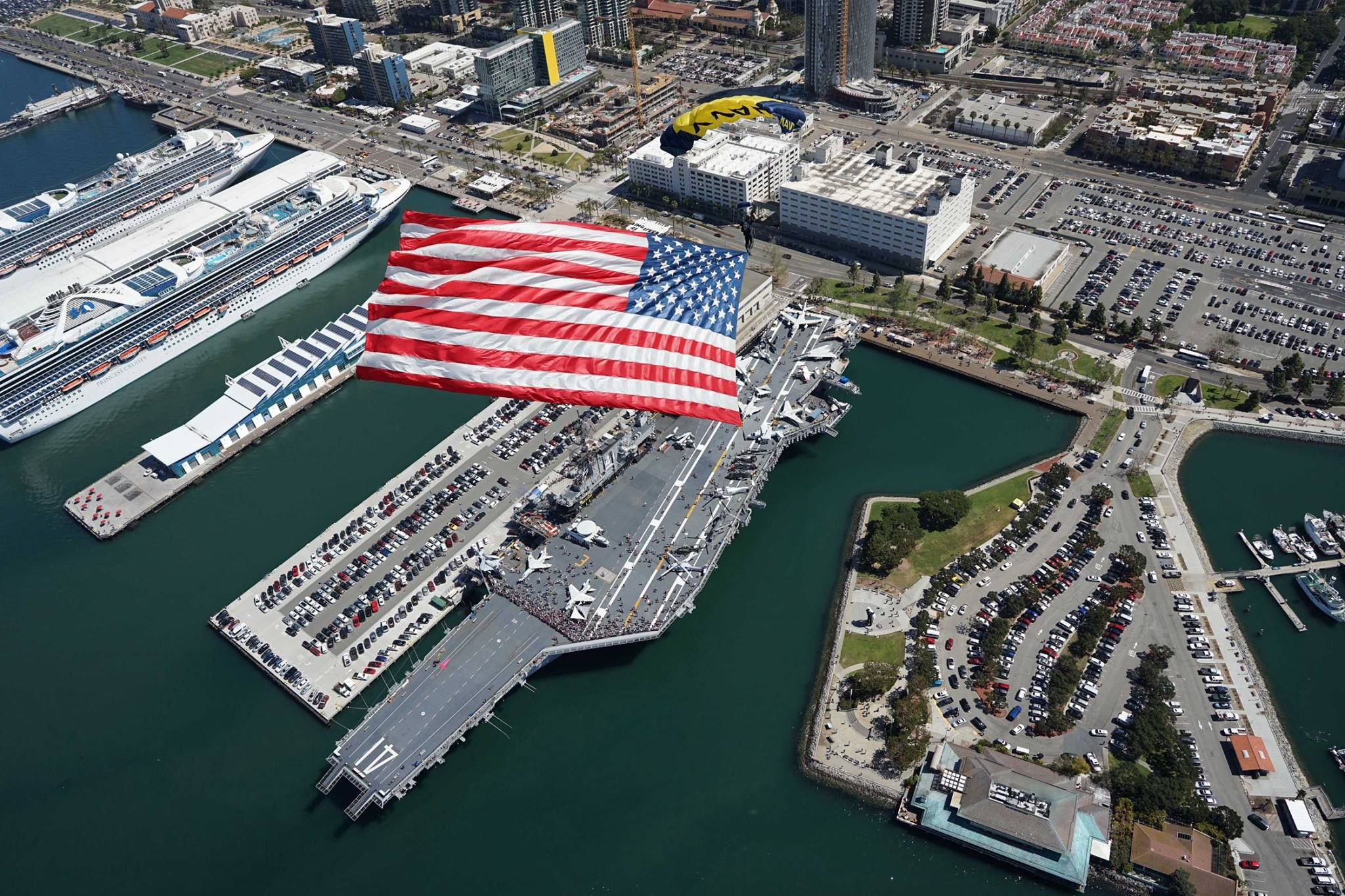 Leap Frogs above the USS Midway Museum in San Diego March 29, 2017